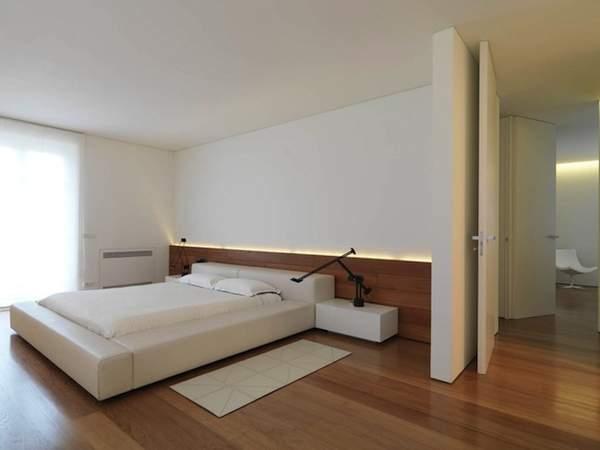 интерьер спальни в стиле минимализм фото