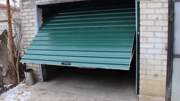 двери в гараж подъемные механизм для гаражных ворот